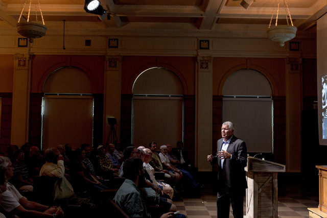 Bob Delaney, a former undercover agent turned NBA official, speaks about his experiences at the Mob Museum, Las Vegas, Tuesday, July 12, 2016. Elizabeth Brumley/Las Vegas Review-Journal Follow @el ...