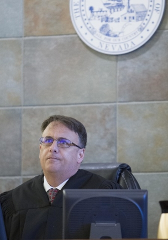 District Judge Richard Scotti presides over the case of Bayzle Morgan at the Regional Justice Center in downtown Las Vegas on Thursday, July 21, 2016. Richard Brian/Las Vegas Review-Journal Follow ...