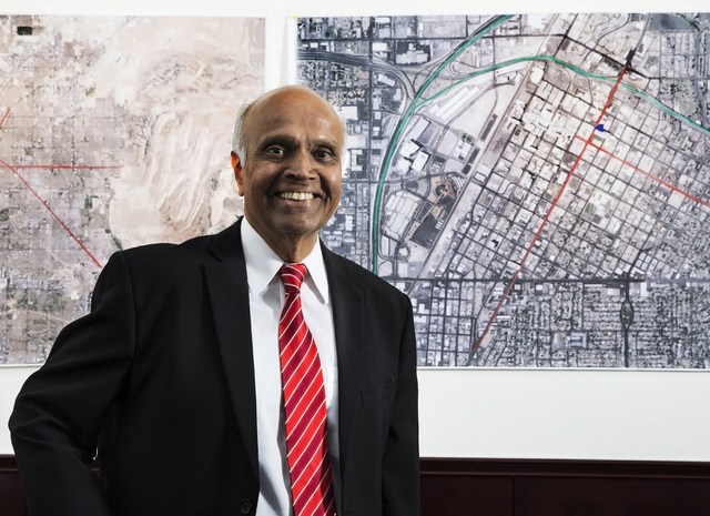 Neonopolis owner Rohit Joshi poses for a photo at his second-floor office on Tuesday, July 12, 2016, in Las Vegas. Benjamin Hager/Las Vegas Review-Journal