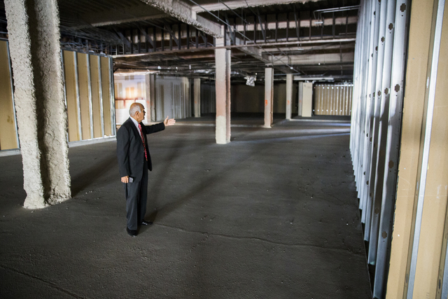 Neonopolis owner Rohit Joshi stands in the vacant space that Italian eatery Fat Papa's will occupy on Tuesday, July 12, 2016, in Las Vegas. Benjamin Hager/Las Vegas Review-Journal