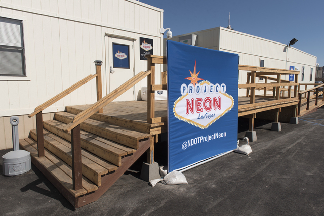 The Project Neon construction trailer at 320 Wall St. in Las Vegas is seen Wednesday June 15, 2016. Jason Ogulnik/Las Vegas Review-Journal