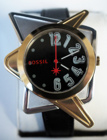 The new limited-edition Fossil watch inspired by the iconic landmark sign designer Betty Willis is seen at the Neon Museum in Las Vegas, Wednesday, July 20, 2016. Jerry Henkel/Las Vegas Review-Jou ...