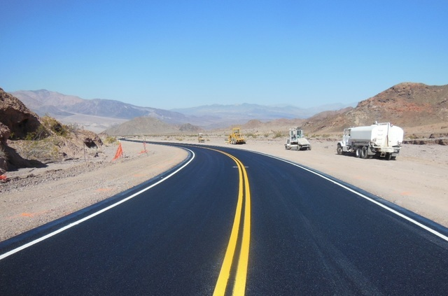 Badwater Road in Death Valley National Park is now fully open after extreme flooding last October closed parts until this month. Photo courtesy of National Park Service