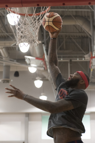 Center DeMarcus Cousins (12) shoots the ball during a USA men's basketball Olympic team practice at UNLV's Mendenhall Center in Las Vegas on Wednesday, July 20, 2016. Jason Ogulnik/Las Vegas Revie ...