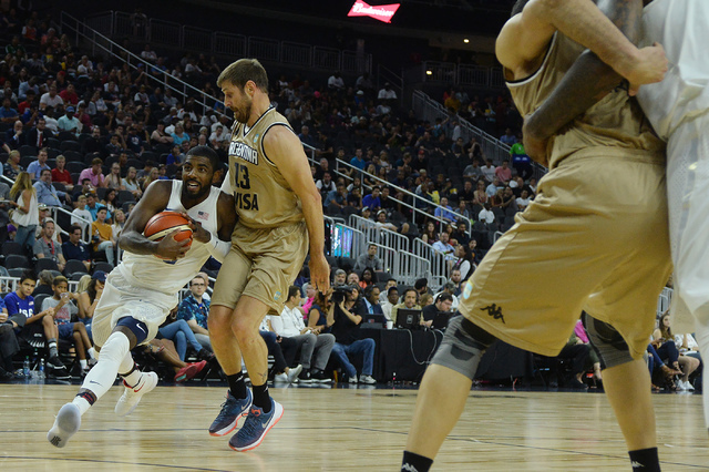 United States' Kyrie Irving handles the ball during a U.S. men's basketball team exhibition game versus Argentina on Friday, July 22, 2016 at T-Mobile Arena. (Bridget Bennett/Las Vegas Review-Jour ...