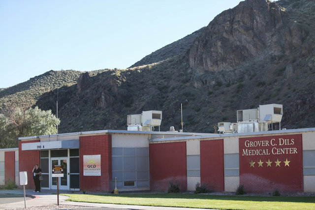 Neighbors say suspected bomber Glen Jones worked at Grover C. Dils Medical Center over a year ago in Caliente, Nev., on Thursday, July 14, 2016. Client is about 10 miles south of Panaca. Brett Le  ...