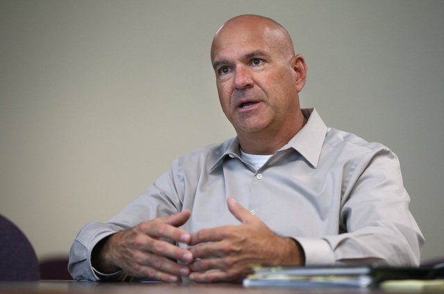 Nevada Department of Correction Director James Dzurenda talks about his plans to improve the agency during an interview at his office in Carson City, Nev., on Wednesday, July 13, 2016. (Cathleen A ...