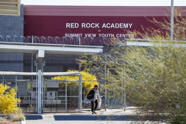 The entrance of Red Rock Academy, a state juvenile correctional facility, on Tuesday, March 10, 2015. (Chase Stevens/Las Vegas Review-Journal Follow @csstevensphoto)