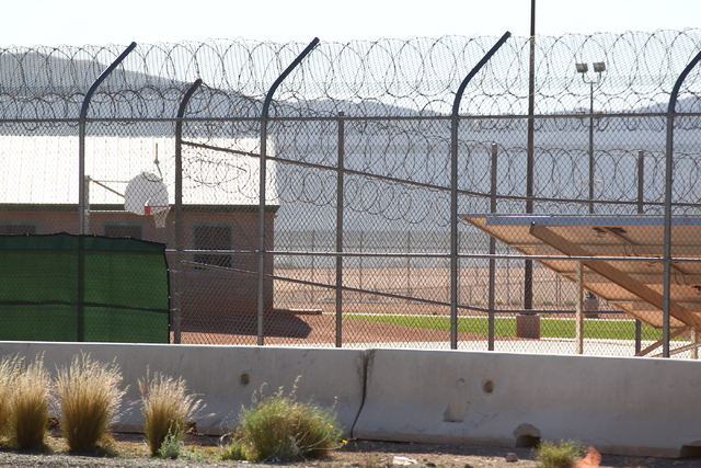 A portion of the yard area at Red Rock Academy, a state juvenile correctional facility, on Tuesday, March 10, 2015. (Chase Stevens/Las Vegas Review-Journal Follow @csstevensphoto)