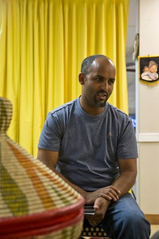 Lucy Ethiopian Restaurant co-owner Woldu Tereda talks about his Las Vegas eatery on Wednesday, June 29, 2016. (Daniel Clark/Las Vegas Review-Journal Follow @DanJClarkPhoto)