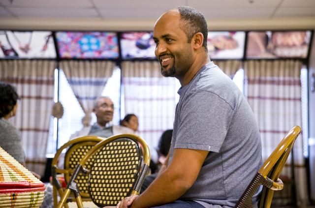 Lucy Ethiopian Restaurant co-owner Woldu Tereda at his Las Vegas eatery on Wednesday, June 29, 2016. (Daniel Clark/Las Vegas Review-Journal Follow @DanJClarkPhoto)