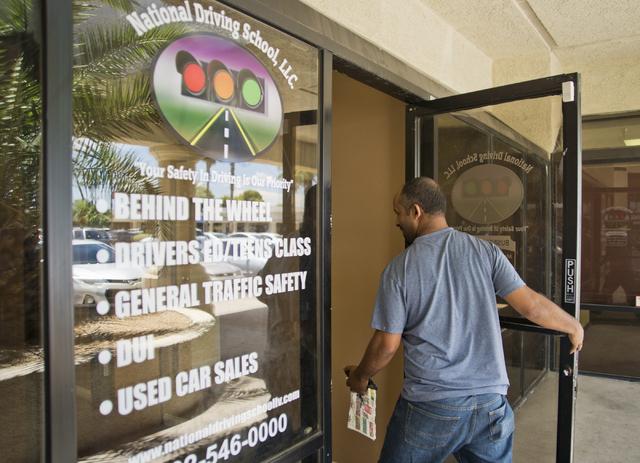 Woldu Tereda walks into his business, National Driving School, LLC, in Las Vegas on Wednesday, June 29, 2016. (Daniel Clark/Las Vegas Review-Journal Follow @DanJClarkPhoto)