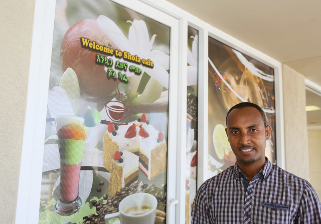 Getachew Beyene is co-owner of Shola Market and Shola Cafe  in Las Vegas, Friday, July 1, 2016. (Ronda Churchill/Las Vegas Review-Journal)