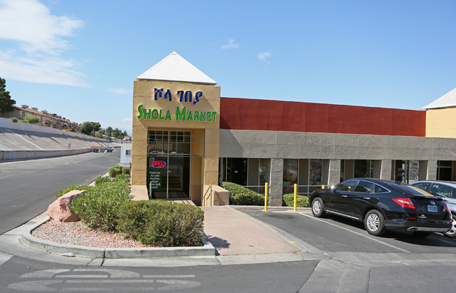 Shola Market is shown at 4001 S. Decatur Blvd. Suite 1, Friday, July 1, 2016, in Las Vegas. (Ronda Churchill/Las Vegas Review-Journal)