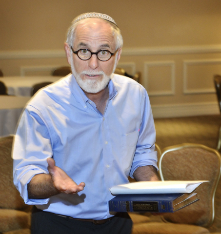 Rabbi Benjamin Katz speaks during a bibliodrama based on the story of Jonah at Temple Beth Sholom in Las Vegas on June 21. Bill Hughes/Las Vegas Review-Journal