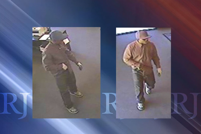 One of two suspects who robbed a business near Fort Apache and Twain in Las Vegas, NV on  May 12, 2016. (Courtesy Las Vegas Metropolitan Police)