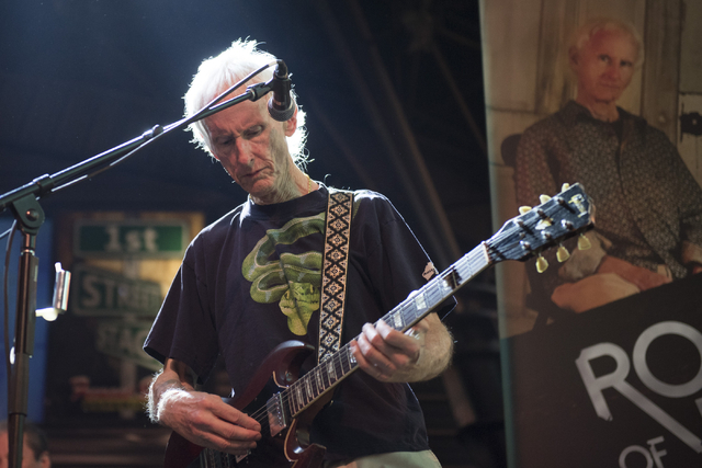 Robby Krieger of The Doors performs during the Rock of Vegas concert series at Fremont Street Experience in Las Vegas on Saturday, July 23, 2016. (Jason Ogulnik/Las Vegas Review-Journal)