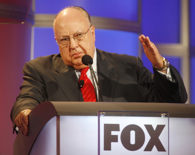 Roger Ailes, chairman and CEO of Fox News and Fox Television Stations, answers questions during a panel discussion at the Television Critics Association summer press tour in Pasadena, California,  ...
