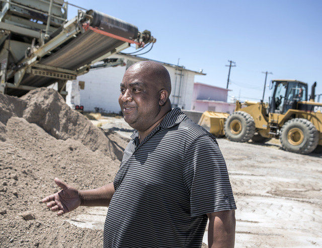 Scott Johnson with Moulin Rouge Holdings LLC stands at the site of the original Moulin Rouge on Thursday, July 7, 2016. Johnson is hoping to purchase the Moulin Rouge site. Jeff Scheid/Las Vegas R ...