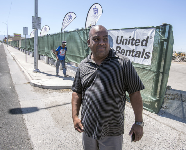 Scott Johnson with Moulin Rouge Holdings LLC stands near the site of the original Moulin Rouge on Thursday, July 7, 2016. Johnson is hoping to purchase the Moulin Rouge site. Jeff Scheid/Las Vegas ...