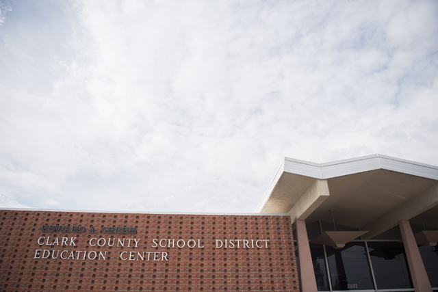 The Clark County School District Edward Greer Education Center is shown in Las Vegas on Thursday, July 2, 2015. (Jason Ogulnik/Las Vegas Review-Journal)