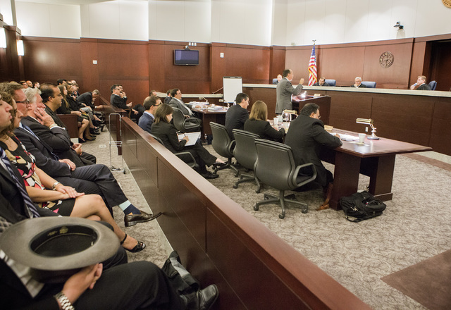 Attorney Paul Clement  representing the state of Nevada makes oral arguments involving school choice Friday, July 29, 2016, in front of the Nevada Supreme Court. Jeff Scheid/Las Vegas Review-Journ ...