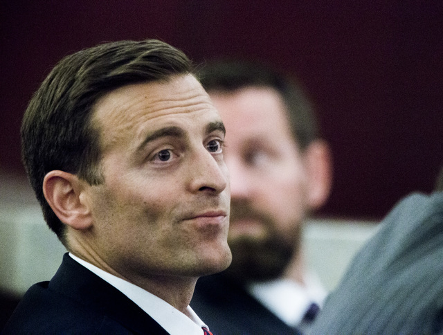 Nevada Attorney General Adam Laxalt, listens to oral arguments involving school choice Friday, July 29, 2016, in front of Nevada Supreme Court. Jeff Scheid/Las Vegas Review-Journal Follow @jeffscheid