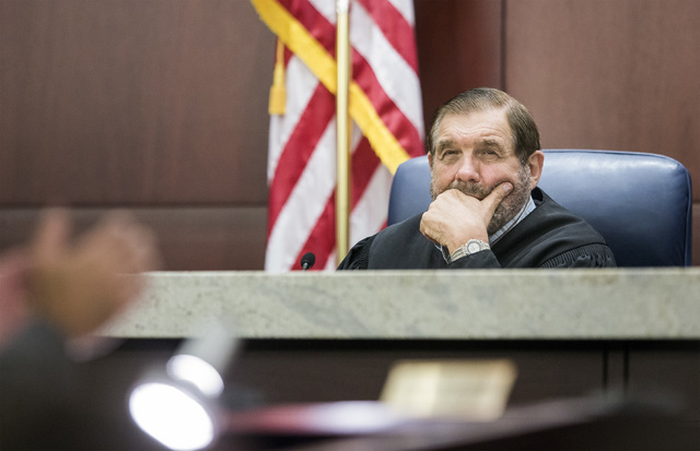 Justice Michael A. Cherry listens Friday, July 29, 2016, during oral arguments on school choice at the Nevada Supreme Court. Jeff Scheid/Las Vegas Review-Journal Follow @jeffscheid
