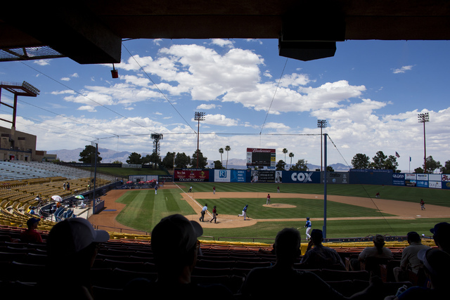 The Las Vegas 51s play against the Sacramento River Cats at Cashman Field  in Las Vegas on Tuesday, June 28, 2016. (Chase Stevens/Las Vegas Review-Journal Follow @csstevensphoto)