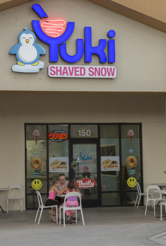 Patrons are seen outside of Yuki Shaved Snow located at 8414 Farm Road, Suite 150 in Las Vegas on Thursday, June 30, 2016. Richard Brian/Las Vegas Review-Journal