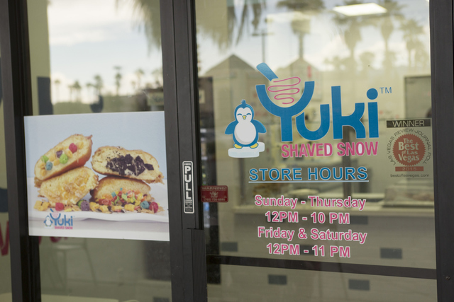 Yuki Shaved Snow located at 8414 Farm Road, Suite 150 in Las Vegas on Thursday, June 30, 2016. Richard Brian/Las Vegas Review-Journal