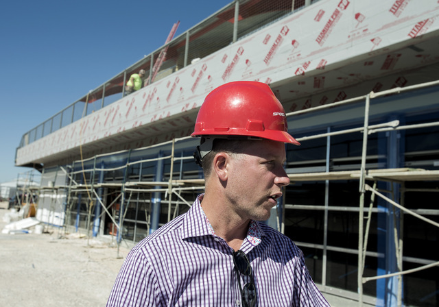 Aaron Fessler, co-founder and CEO at SpeedVegas, 14200 S. Las Vegas Blvd, discusses the new observation facility under construction on Thursday, July 14, 2016. (Jeff Scheid/Las Vegas Review-Journa ...