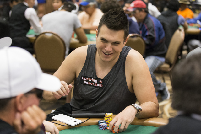 Professional poker player Doug Polk plays during a World Series of Poker tournament at the Rio Convention Center on Wednesday, July 13, 2016, in Las Vegas. Erik Verduzco/Las Vegas Review-Journal F ...