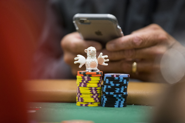 A figurine sits on a poker table during a World Series of Poker tournament at the Rio Convention Center on Wednesday, July 13, 2016, in Las Vegas. Erik Verduzco/Las Vegas Review-Journal Follow @Er ...