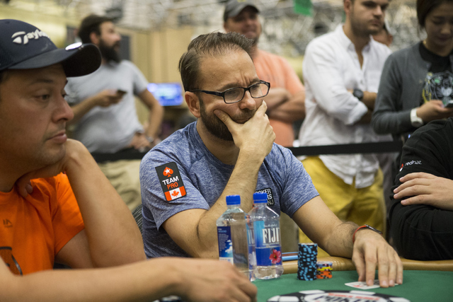 Professional poker player Daniel Negreanu plays during a World Series of Poker tournament at the Rio Convention Center on Wednesday, July 13, 2016, in Las Vegas. Erik Verduzco/Las Vegas Review-Jou ...