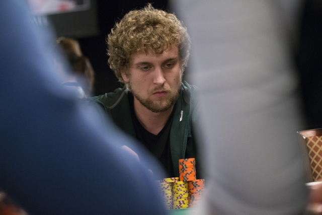 Professional poker player Ryan Riess plays during a World Series of Poker tournament at the Rio Convention Center on Wednesday, July 13, 2016, in Las Vegas. Erik Verduzco/Las Vegas Review-Journal  ...