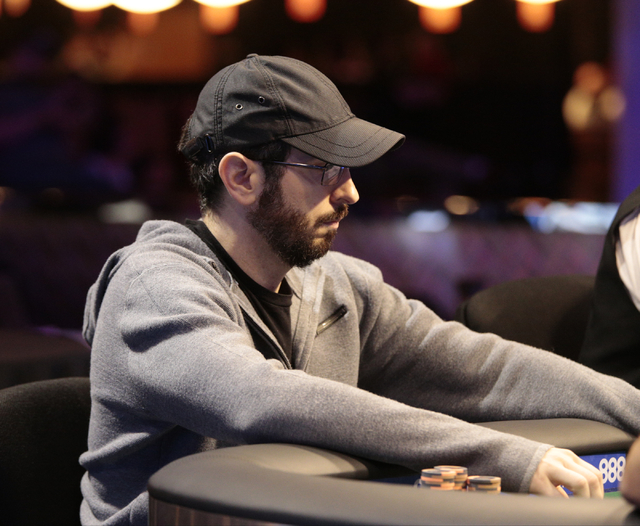 Poker player Brian Rast looks across the table while considering a bet during the $50,000 buy-in Poker Players' Championship at the Rio Convention Center in Las Vegas on Wednesday, July 6, 2016. ( ...