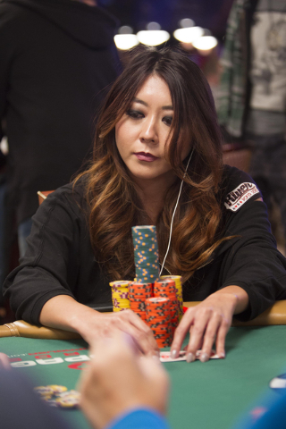 Poker player Maria Ho competes during Day 4 of the Main Event of the World Series of Poker at the Rio Convention Center in Las Vegas on Friday, July 15, 2016. Richard Brian/Las Vegas Review-Journa ...
