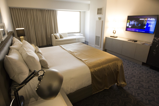 A standard room at Planet Hollywood casino-hotel is seen on Wednesday, March 16, 2016, in Las Vegas. Erik Verduzco/Las Vegas Review-Journal Follow @Erik_Verduzco