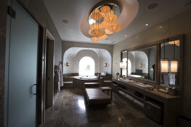 The master bathroom of the Nobu Hotel Villa inside Caesar Palace casino-hotel is seen on Wednesday, March 16, 2016, in Las Vegas. Erik Verduzco/Las Vegas Review-Journal Follow @Erik_Verduzco