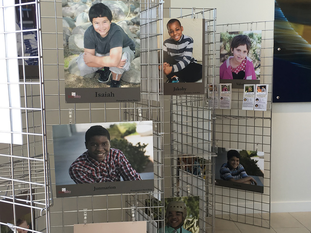 """The Adoption Exchange's """"Heart Gallery"""" is on display through July 21 at Park Place Infiniti, 5555 W. Sahara Ave. Special to View"""