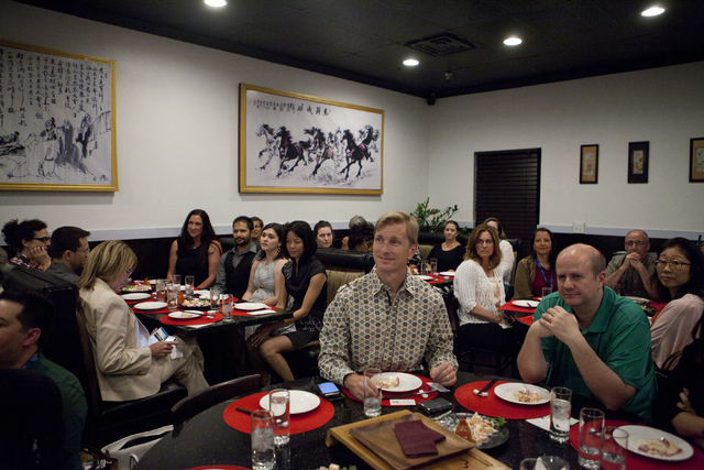 Guests enjoy the food and tea at Niu-Gu Noodle House on Wednesday, June 15, 2016, in Las Vegas. Loren Townsley/Las Vegas Review-Journal Follow @lorentownsley
