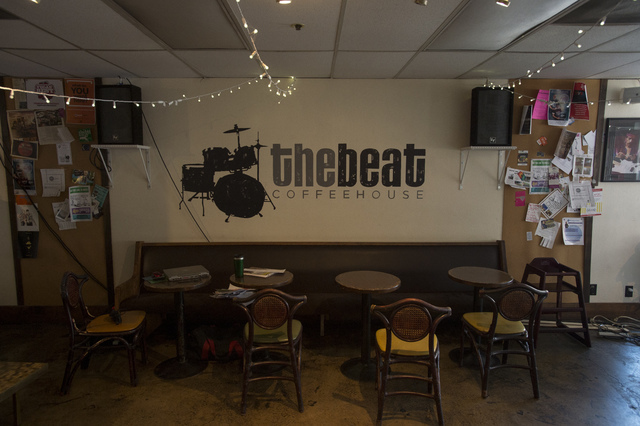 The Beat Coffeehouse & Records, pictured on Friday, July 1, 2016, in Las Vegas, will close later this year. (Bridget Bennett/Las Vegas Review-Journal) Follow @bridgetkbennett