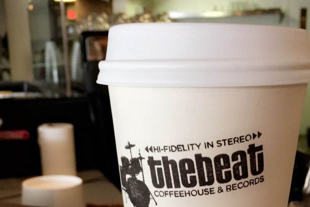 The Beat Coffeehouse & Records on Fremont in downtown Las Vegas. (Ashley Casper/Las Vegas Review-Journal)