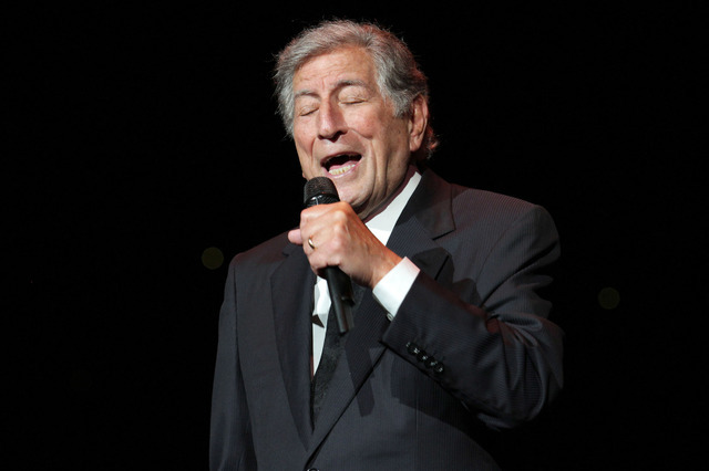 Singer Tony Bennett performs at Radio City Music Hall on Friday, Oct. 11, 2013 in New York. (Photo by Greg Allen/Invision/AP)