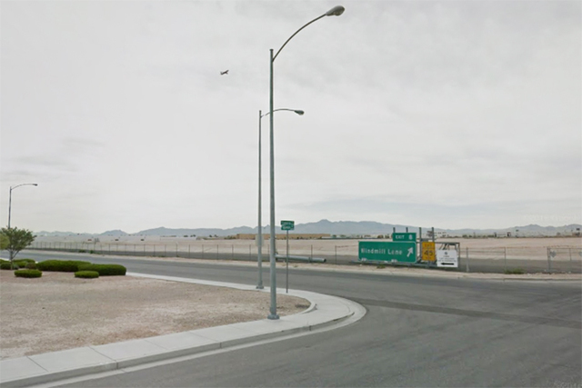 Tropicana Detention Basin at Cameron Street and Oquendo Road in Las Vegas. (Google Street View)