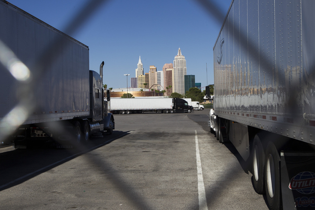 The Wild Wild West Truck Plaza at the intersection of Procyon Street and Tropicana Avenue is seen on Tuesday, July 5, 2016, in Las Vegas. (Erik Verduzco/Las Vegas Review-Journal) Follow @Erik_Verduzco