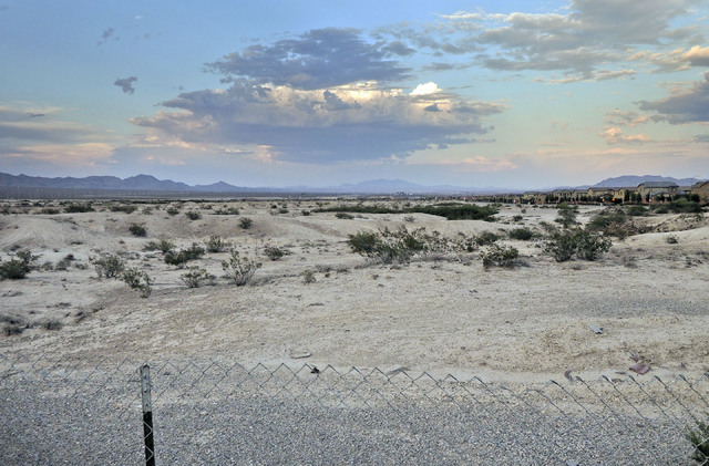 The area north of Deer Springs Way, just east of Brian & Teri Cram Middle School in North Las Vegas, seen Thursday, July 28, 2016, is the future site of a roughly 2,000-acre housing developmen ...