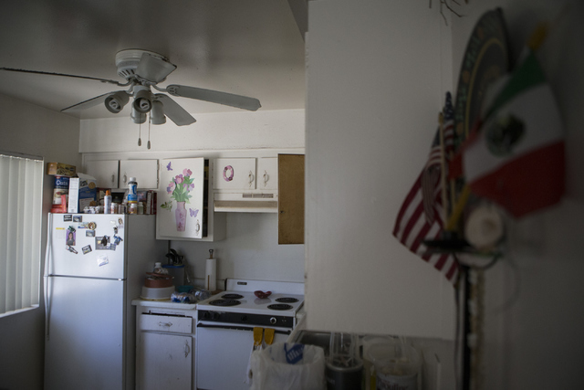 The two-bedroom apartment of Jose Cruz Duran-Gonzalez at the University Park Apartments is seen on Thursday, July 14, 2016, in Las Vegas. Duran-Gonzalez received a notice to vacate unless he agree ...