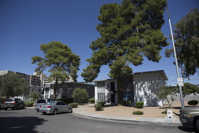 The University Park Apartments are seen on Thursday, July 14, 2016, in Las Vegas. Residents have reported receiving notices to vacate unless they agreed to rent increase. (Erik Verduzco/Las Vegas  ...